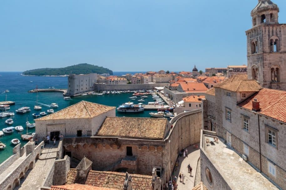 Dubrovnik Old Town seen from the wall